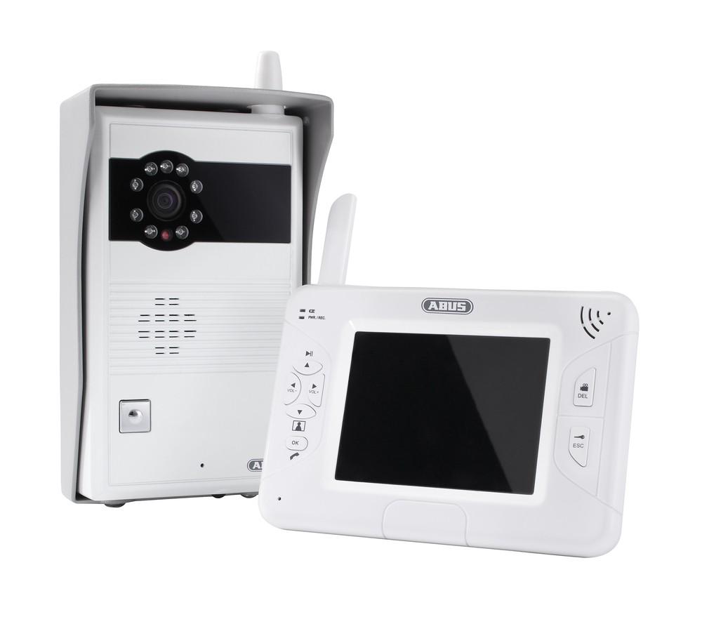 ABUS Video Türsprechanlage Funk mit Videofunktio  für Innen- und Außenbereich Komplettanlage (Art.-Nr. TVAC80020A)