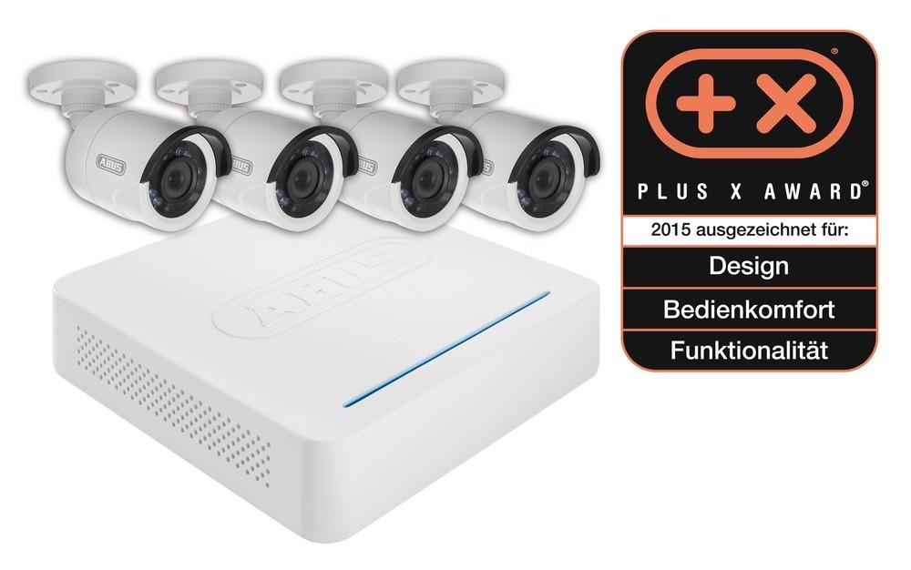 Abus Videoüberwachungsset: Digitalrekorder + 4 Außen Kameras (Art.-Nr. TVVR30404)
