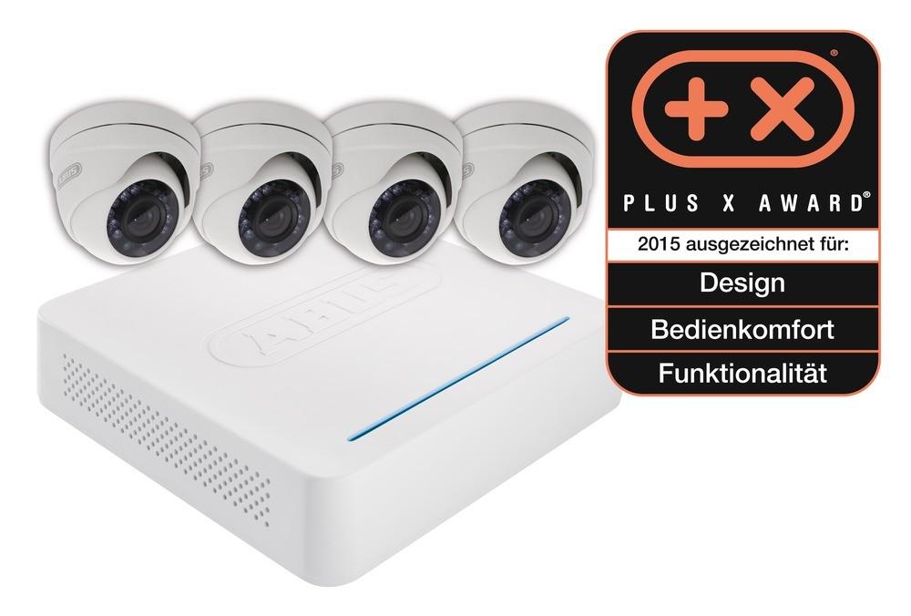 Abus Videoüberwachungsset: Digitalrekorder + 4 Außen Dome Kameras (Art.-Nr. TVVR30414)