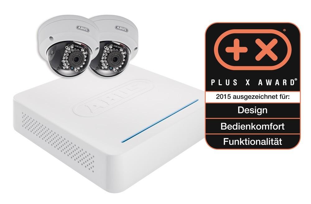 Abus Videoüberwachungsset: Netzwerk Digitalrekorder + 2 Netzwerk Außen-Domekameras (Art.-Nr. TVVR36200)