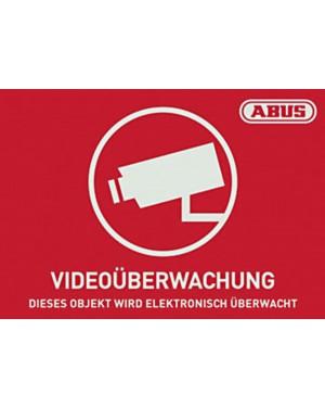 Abus Warnaufkleber Videoüberwachung mit ABUS Logo 74 x 52,5 mm (Art.-Nr. AU1421)