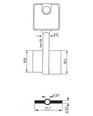 Schließfächer Doppelbartschlüssel 6MAU19