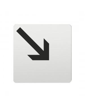 FSB Hinweiszeichen Pfeil nach rechts unten Lasergraviert Aluminium naturfarbig (0 36 4059 00006 0105)