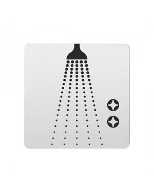FSB Hinweiszeichen Dusche Lasergraviert Aluminium naturfarbig (0 36 4059 00106 0105)