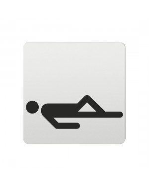 FSB Hinweiszeichen Ruheraum Lasergraviert Aluminium naturfarbig (0 36 4059 00120 0105)