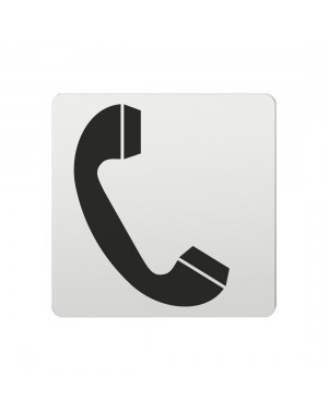 FSB Hinweiszeichen Telefon Lasergraviert Aluminium naturfarbig (0 36 4059 00200 0105)