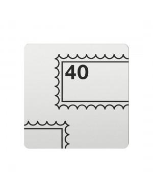 FSB Hinweiszeichen Briefmarken Lasergraviert Aluminium naturfarbig (0 36 4059 00212 0105)