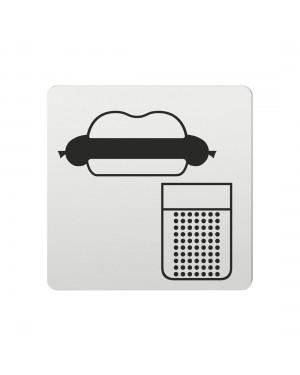 FSB Hinweiszeichen Imbiss Lasergraviert Aluminium naturfarbig (0 36 4059 00314 0105)