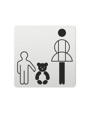 FSB Hinweiszeichen Kinderaufbewahrung Lasergraviert Aluminium naturfarbig (0 36 4059 00333 0105)
