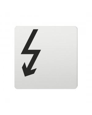 FSB Hinweiszeichen Vorsicht Elektrizitaet Lasergraviert Aluminium naturfarbig (0 36 4059 00411 0105)