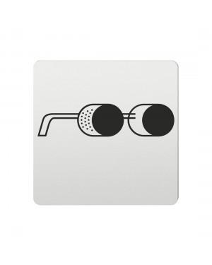 FSB Hinweiszeichen Augenschutz tragen Lasergraviert Aluminium naturfarbig (0 36 4059 00414 0105)