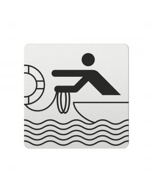 FSB Hinweiszeichen Rettungsbooteinsatz Lasergraviert Aluminium naturfarbig (0 36 4059 00432 0105)