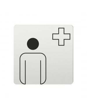 FSB Hinweiszeichen Arzt Lasergraviert Aluminium naturfarbig (0 36 4059 00500 0105)