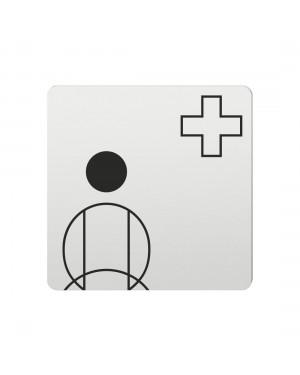 FSB Hinweiszeichen Krankenschwester Lasergraviert Aluminium naturfarbig (0 36 4059 00501 0105)