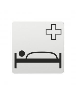 FSB Hinweiszeichen Krankenhaus Lasergraviert Aluminium naturfarbig (0 36 4059 00510 0105)