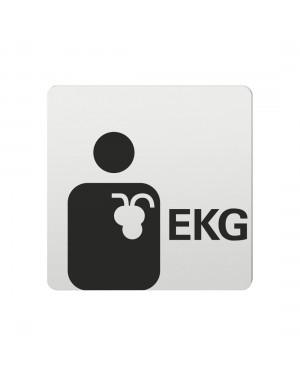 FSB Hinweiszeichen EKG Lasergraviert Aluminium naturfarbig (0 36 4059 00513 0105)