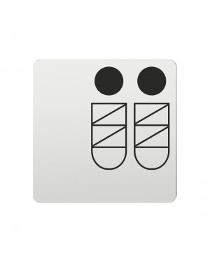FSB Hinweiszeichen Babystation Lasergraviert Aluminium naturfarbig (0 36 4059 00518 0105)