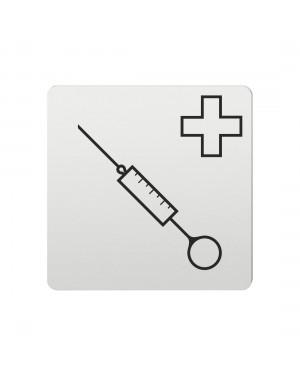 FSB Hinweiszeichen Impfstation Lasergraviert Aluminium naturfarbig (0 36 4059 00519 0105)