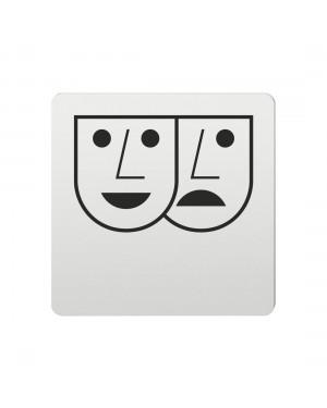 FSB Hinweiszeichen Theater Lasergraviert Aluminium naturfarbig (0 36 4059 00600 0105)