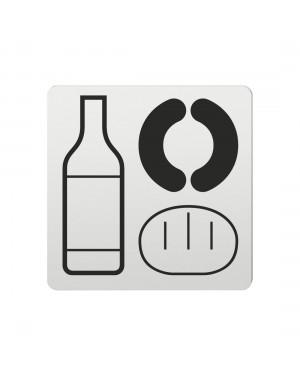 FSB Hinweiszeichen Lebensmittel Lasergraviert Aluminium naturfarbig (0 36 4059 00700 0105)