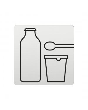 FSB Hinweiszeichen Milchprodukte Lasergraviert Aluminium naturfarbig (0 36 4059 00704 0105)