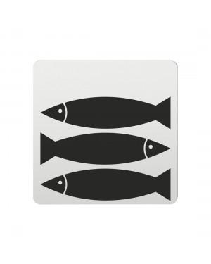 FSB Hinweiszeichen Fische Lasergraviert Aluminium naturfarbig (0 36 4059 00706 0105)