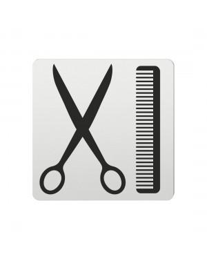 FSB Hinweiszeichen Friseur Lasergraviert Aluminium naturfarbig (0 36 4059 00722 0105)