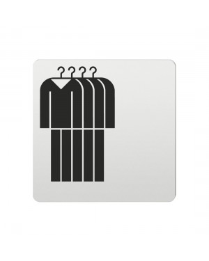 FSB Hinweiszeichen Herrenbekleidung Lasergraviert Aluminium naturfarbig (0 36 4059 00731 0105)
