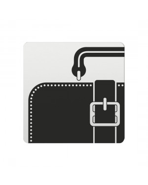 FSB Hinweiszeichen Lederwaren Lasergraviert Aluminium naturfarbig (0 36 4059 00733 0105)