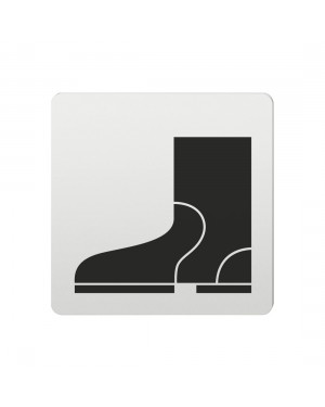 FSB Hinweiszeichen Schuhe Lasergraviert Aluminium naturfarbig (0 36 4059 00734 0105)