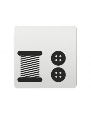 FSB Hinweiszeichen Kurzwaren Lasergraviert Aluminium naturfarbig (0 36 4059 00736 0105)
