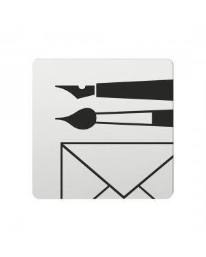 FSB Hinweiszeichen Schreibwaren Lasergraviert Aluminium naturfarbig (0 36 4059 00741 0105)