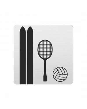 FSB Hinweiszeichen Sportartikel Lasergraviert Aluminium naturfarbig (0 36 4059 00785 0105)