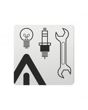 FSB Hinweiszeichen Autozubehoer Lasergraviert Aluminium naturfarbig (0 36 4059 00788 0105)