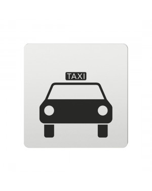 FSB Hinweiszeichen Taxi Lasergraviert Aluminium naturfarbig (0 36 4059 00814 0105)