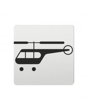 FSB Hinweiszeichen Hubschrauber Lasergraviert Aluminium naturfarbig (0 36 4059 00836 0105)