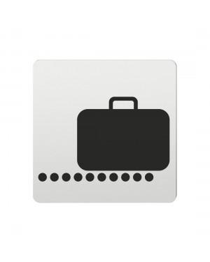FSB Hinweiszeichen Gepaeckausgabe Lasergraviert Aluminium naturfarbig (0 36 4059 00851 0105)