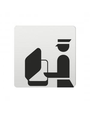 FSB Hinweiszeichen Gepaeckkontrolle Lasergraviert Aluminium naturfarbig (0 36 4059 00852 0105)