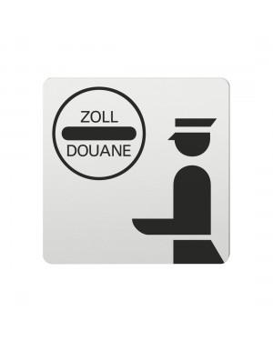 FSB Hinweiszeichen Zoll Lasergraviert Aluminium naturfarbig (0 36 4059 00892 0105)