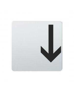 FSB Hinweiszeichen Pfeil nach unten Lasergraviert Edelstahl fein matt (0 36 4059 00001 6204)