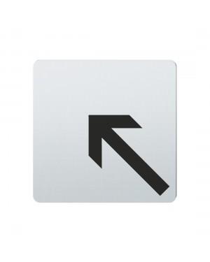 FSB Hinweiszeichen Pfeil nach links oben Lasergraviert Edelstahl fein matt (0 36 4059 00007 6204)