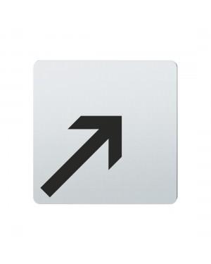 FSB Hinweiszeichen Pfeil n.rechts oben Lasergraviert Edelstahl fein matt (0 36 4059 00008 6204)