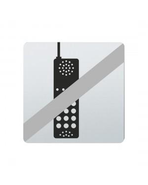 FSB Hinweiszeichen Handy verboten Lasergraviert Edelstahl fein matt (0 36 4059 00037 6204)
