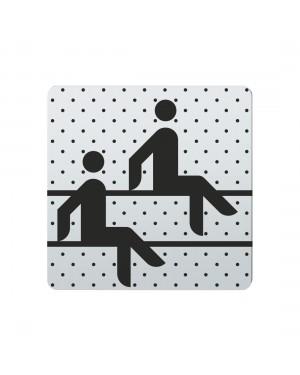 FSB Hinweiszeichen Sauna Lasergraviert Edelstahl fein matt (0 36 4059 00151 6204)