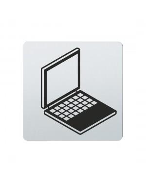 FSB Hinweiszeichen Laptop Lasergraviert Edelstahl fein matt (0 36 4059 00220 6204)