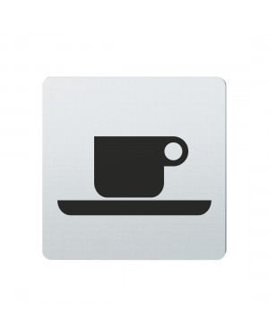 FSB Hinweiszeichen Cafe Lasergraviert Edelstahl fein matt (0 36 4059 00312 6204)