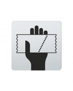 FSB Hinweiszeichen Kartenverkauf Lasergraviert Edelstahl fein matt (0 36 4059 00334 6204)