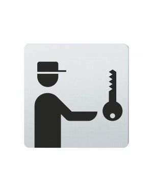 FSB Hinweiszeichen Hausmeister Lasergraviert Edelstahl fein matt (0 36 4059 00337 6204)