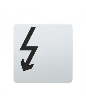 FSB Hinweiszeichen Vorsicht Elektrizitaet Lasergraviert Edelstahl fein matt (0 36 4059 00411 6204)