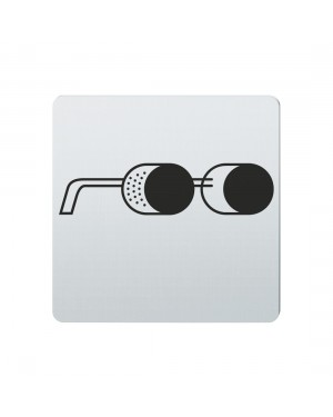 FSB Hinweiszeichen Augenschutz tragen Lasergraviert Edelstahl fein matt (0 36 4059 00414 6204)